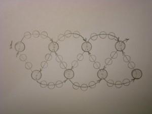 простое колье из бисера со схемами